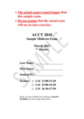 ACCT+2010+Sample+Midterm+Exam+Solution