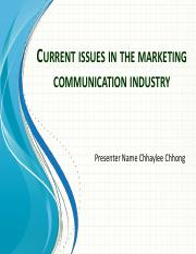 Current issues in the marketing communication industry.pdf