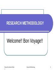 RESEARCH METHODOLOGY[VI]-1 (1) ppt - RESEARCH METHODOLOGY