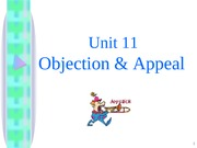 11 Objection & Appeals - s