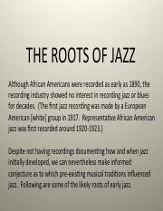 Roots of Jazz (1)