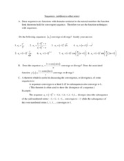 14. Sequences 2 and series