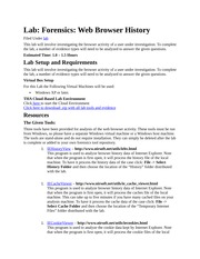 Forensic Web History Browsing