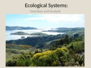 4. Ecological Information and Systems