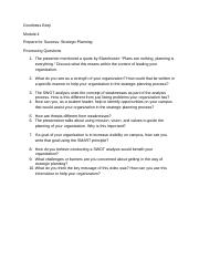 Module 4 processing questions