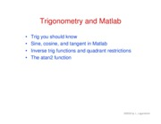 8. Trig and Matlab