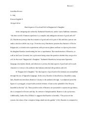 Rappaccini's Daughter Research Paper.doc