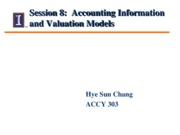 Session 8 - Class Notes - information and valuation (1)