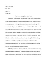English Final Great Gatsby Paper 2