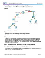 11.3.2.2 Packet Tracer - Test Connectivity with Traceroute Instructions.docx