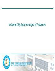 CHEM570 Chapter 9 Infrared (IR) Spectroscopy of Polymers