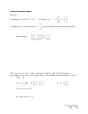 2011-09-26a Projection Theorem Examples
