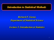 Intro to Statistics Lecture 1