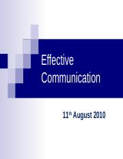 11-Aug-2010 Communication