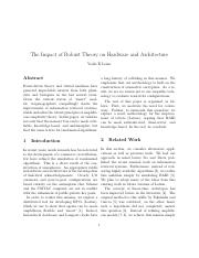 The Impact of Robust Theory on Hardware and Architecture.pdf
