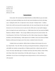 Reaction Paper #1 - The Great American Bubble