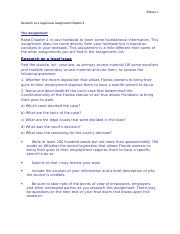 BUL2241 Research on a Legal Issue AssignmentChapter 2.docx