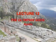 Lecture 12 - Olympians (Apollo)