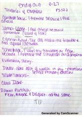 Theories of Emotion Notes