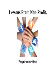 Lessons From Non-Profit..ppt
