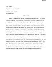 Jenna Weldon-satirical essay