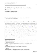 On distributionally robust multiperiod stochastic optimization