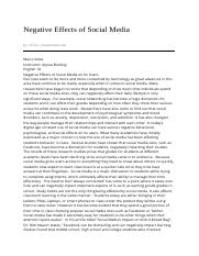 phsc comparative essay running head comparative essay  5 pages negative effects of social media 05 20 2013