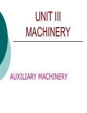 Auxiliary-Machinery in ships notes