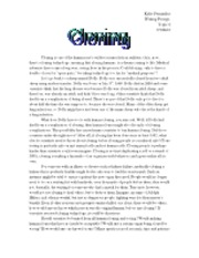 human cloning research paper outline Ethics of human cloning and genetic engineering essay essay about the morals and ethics of genetic engineering more about the ethics of genetic engineering essay.