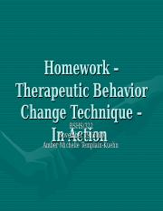 technique for behavior change bshs 322 Bshs322 bshs 322 communication skills for the human services professional learning team presentation on a technique creating change behavioral therapy paper and.