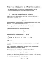 DT205 Differential Equations