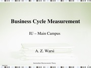 Lec-8A - Business Cycle