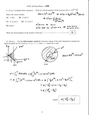 Exam II Solutions