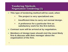selective tendering advantages and disadvantages