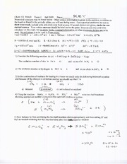 Exam C Fall 2009 Solutions on General Chemistry