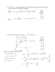 CPSC 421 Vector Calculus Review Quiz Solutions