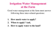 Unit3-Irrigation water application