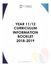 Curriculum Handbook Year 11 and 12  2018.pdf