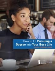 how to fit a degree into your busy life