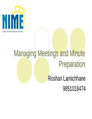 Managing Meetings and Minute Preparation.ppt