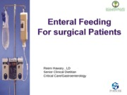 Nutrition in Surgical Patient-Enteral