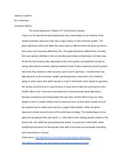 Synthesis Essays  Pages Great Depression Essay Narrative Essay Example High School also Narrative Essay Example For High School Great Depression Essay  Jessica Longmire Mr Lukemeyer Nd World  Cheap Essay Papers