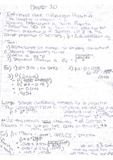 Statistics_ Chapter 20 Notes