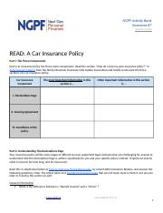 READ_ A Car Insurance Policy (#7).docx