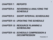 Pres 14 Schedule Reports Review Analyze Compress