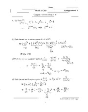 MATH 1C03 Assignment 1 Solutions