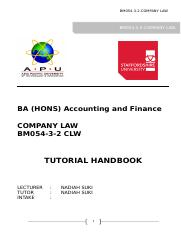 Tutorial Handbook BM054-3-2 CLW June2019.docx