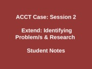 ACCTCaseSession2bExtendSN