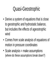 Notes on Advance Meteorology by Holton_Quasi_Geostrophic