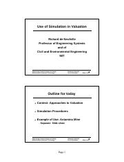 Use of Simulation in Valuation 07